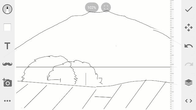 Cara mengambar pemandangan gunung.