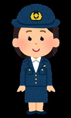 警察官の女の子のイラスト(将来の夢)