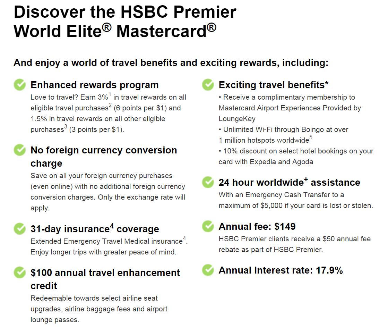 Canadian Rewards: HSBC Fee Changes, effective Nov 20, 2017