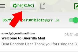 Cara Membuat Email Temporaly (Sementara) Paling Mudah