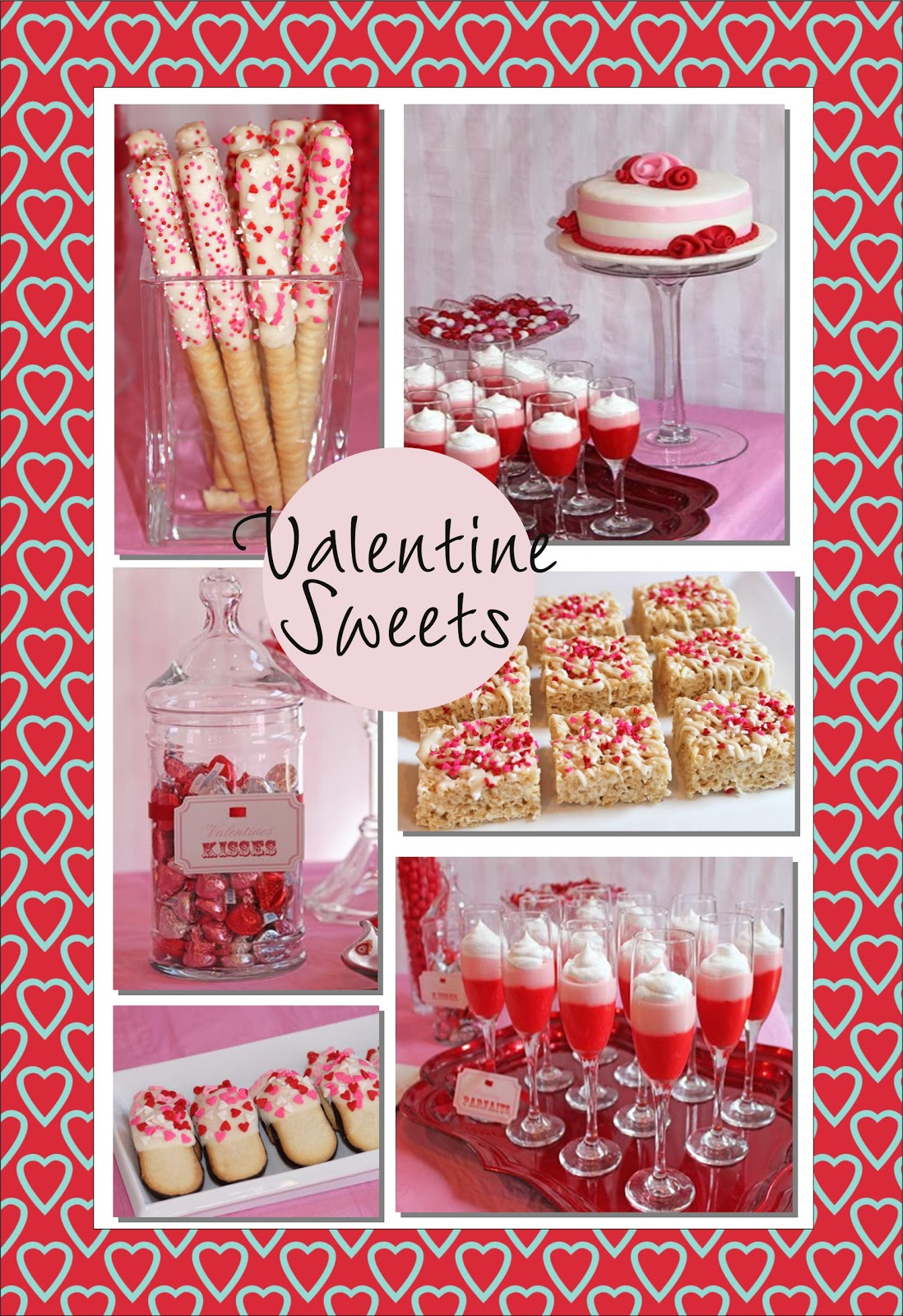 Itu0027s Written On The Wall: Valentineu0027s Day Desserts And Party Food Yummy  Recipes