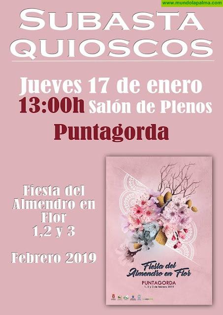 Subasta de quioscos Fiesta del Almendro en Flor 2019 Puntagorda
