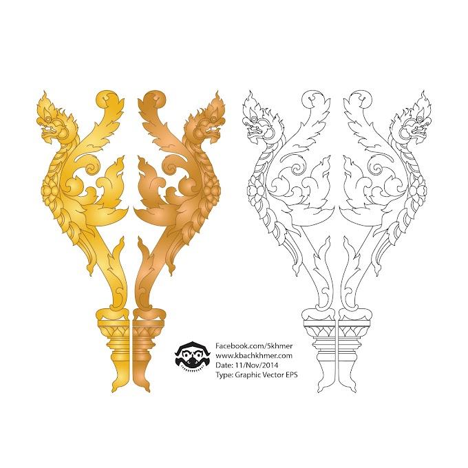 khmer Ornament vector free download khmer art drawing