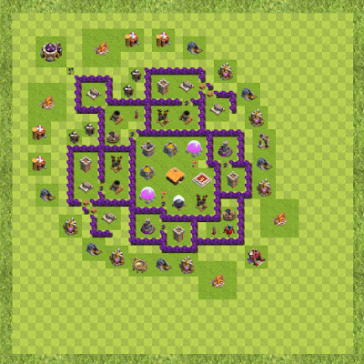 War Base Town Hall Level 7 By padmanaban (new TH 7 Layout)