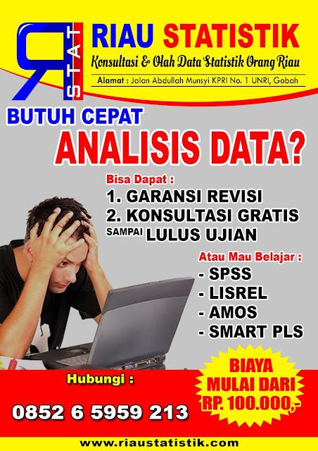 Tunggu Apalagi Olahdata di Riau Statistik.... Garansi Sampai Selesai....