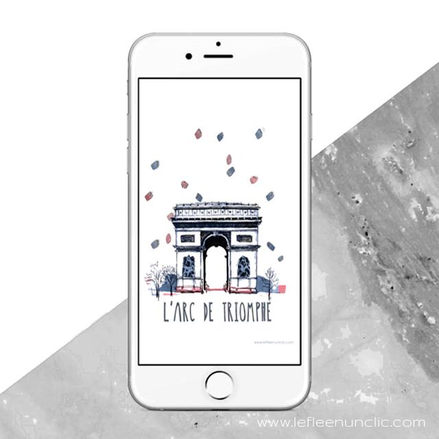 l'Arc de Triomphe, Paris, FLE, le FLE en un 'clic', fond d'écran, freebies