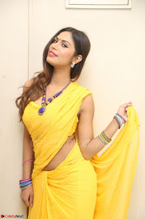 Nishigandha in Yellow backless Strapless Choli and Half Saree Spicy Pics 119.JPG