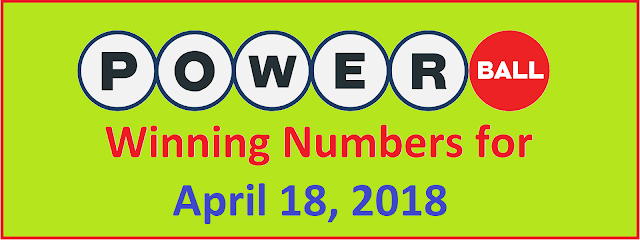 PowerBall Winning Numbers for Wednesday, 18 April 2018