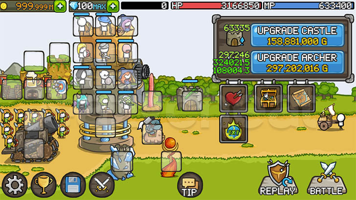 Grow Castle 1.27.5 A lot of Coins