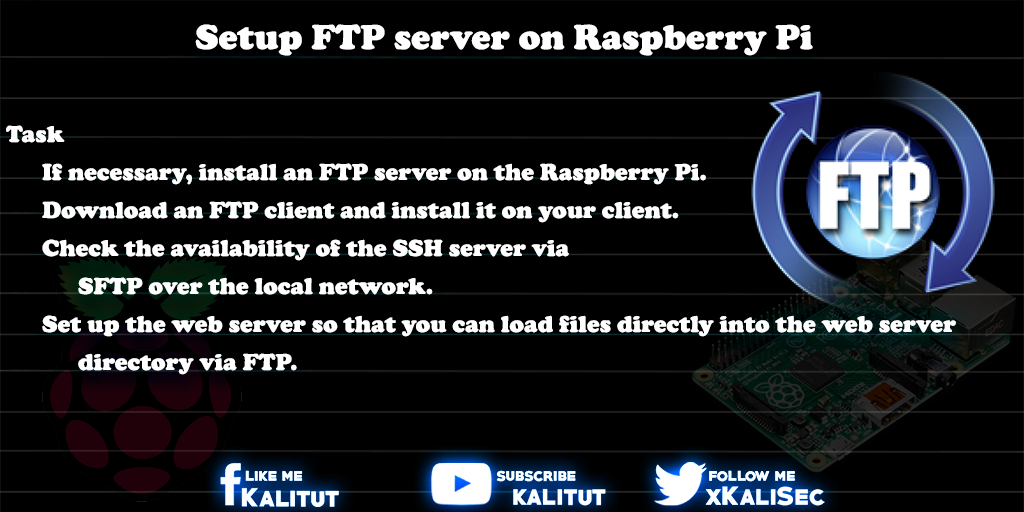 Setup FTP server on Raspberry Pi - KaliTut