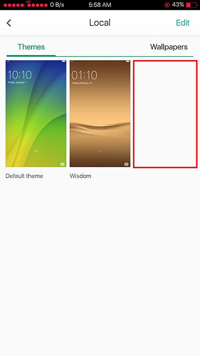 Oppo F3 Delete Installed Theme
