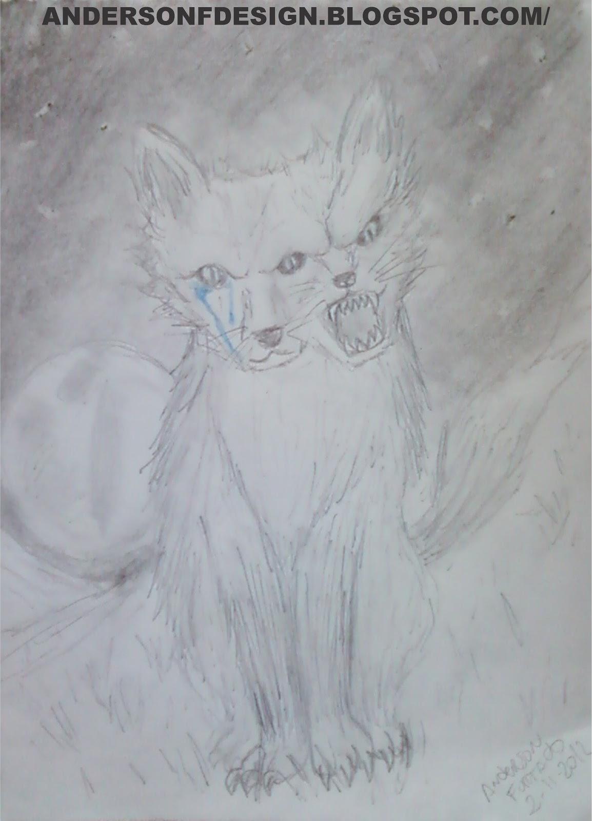 Anderson Furtado Desenho Lobo Solitario