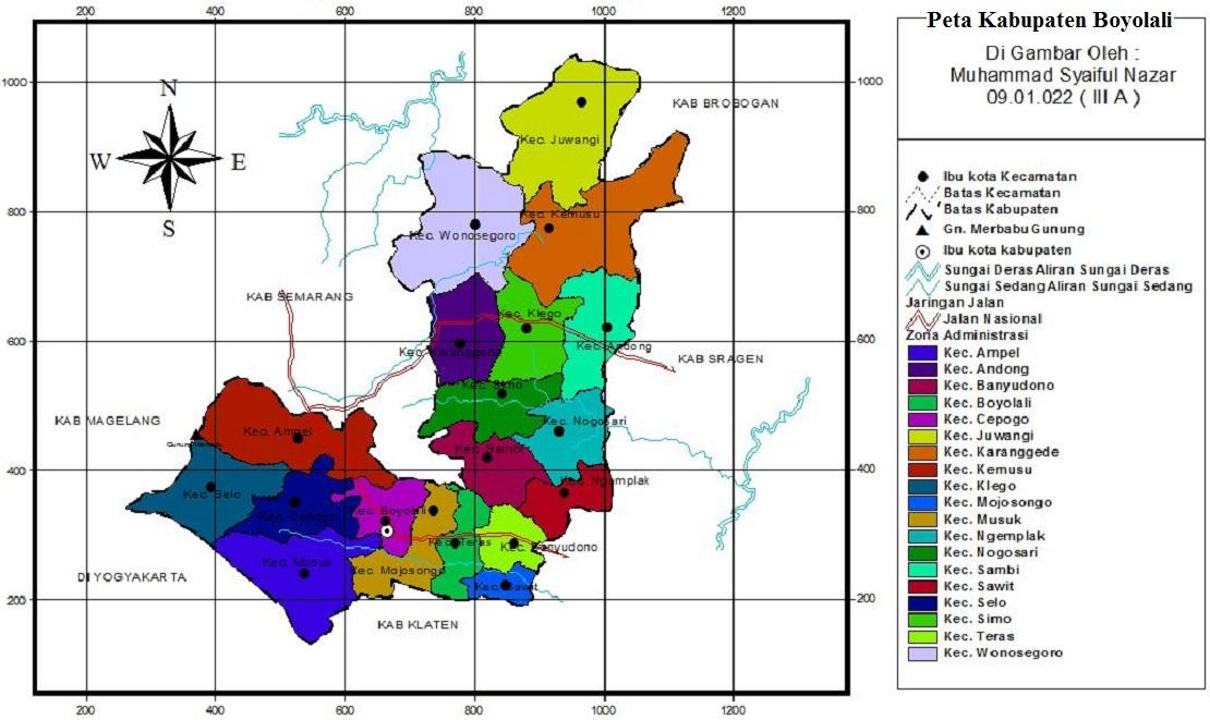 Peta Kabupaten Boyolali