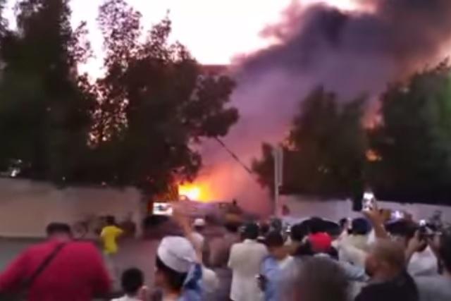 video ledakan bom di dekat masjid Nabawi