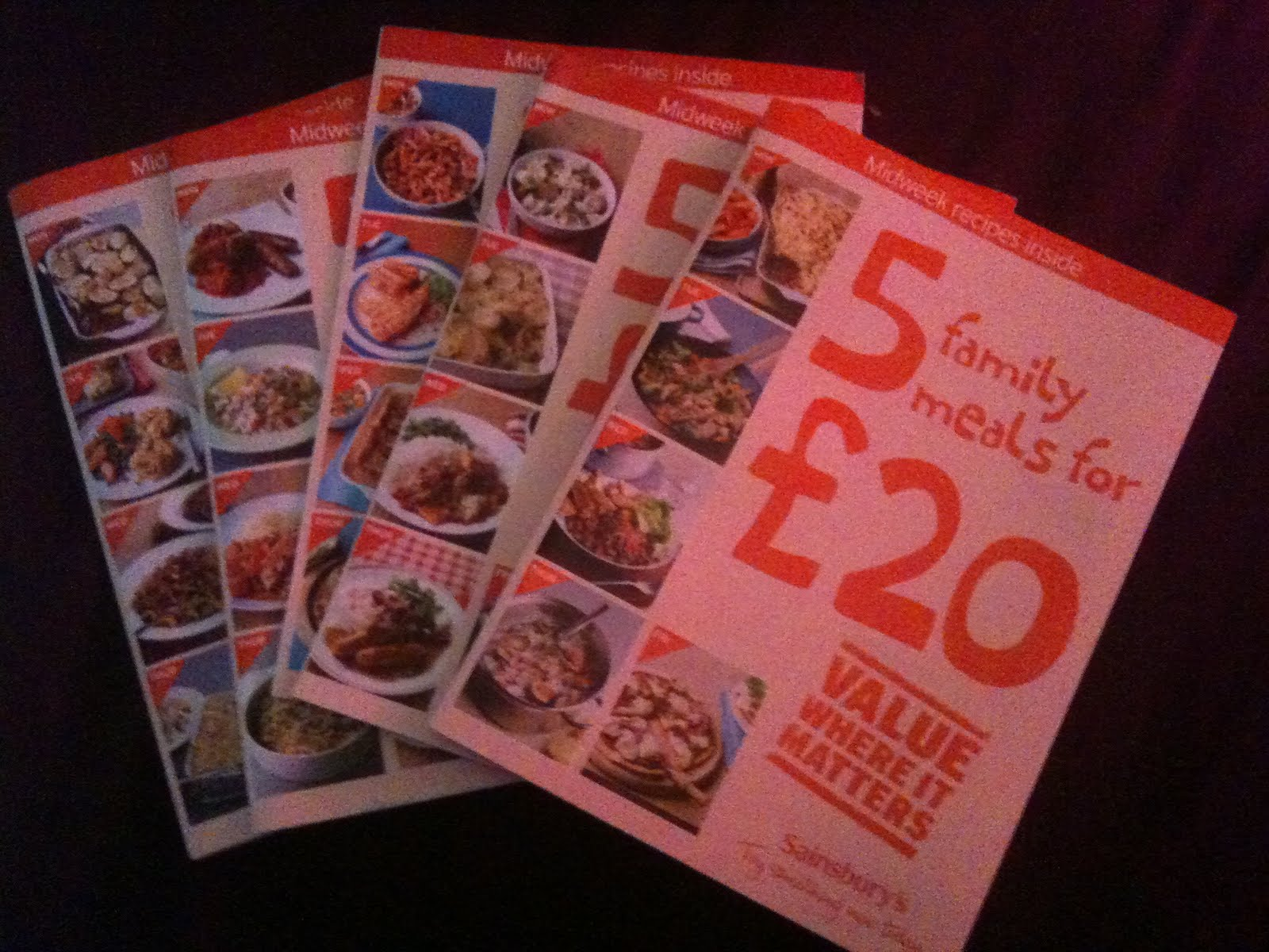 sainsbury's recipe cards  meal plans  rosa bello
