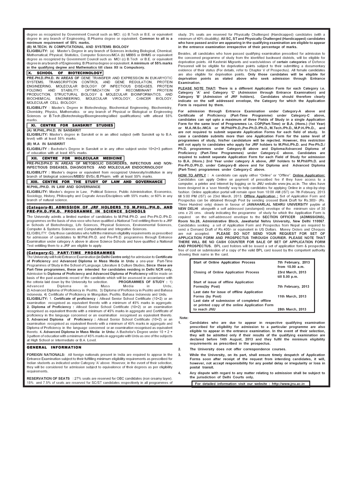 cpp online application form 2013
