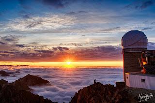 Sunset at Pic du Midi Observatory