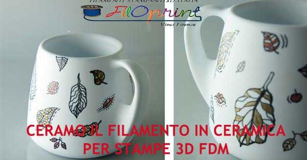 Ma se devi stampare un oggetto, in plastica, metallo, ceramica, vetro,. Come Stampare Filamento Ceramica Ceramo E Ceramo Tex Per Stampanti 3d Fdm