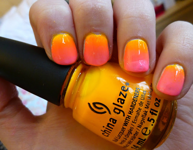 DIY Neon Ombre Nails Tutorial