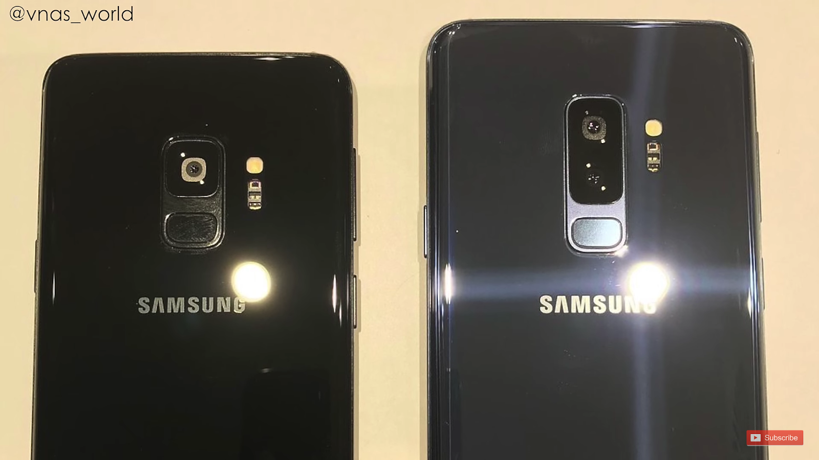 Samsung galaxy s9 and s9 plus back view