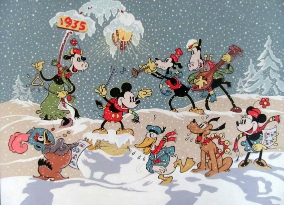 Disney Quotes For Christmas Cards: Oh, By The Way...: Disney Christmas Card For 1934