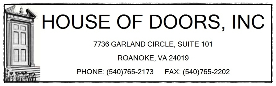 House of Doors - Roanoke, VA sales, repair and installation of commercial doors, frames and hardware 540-765-2173