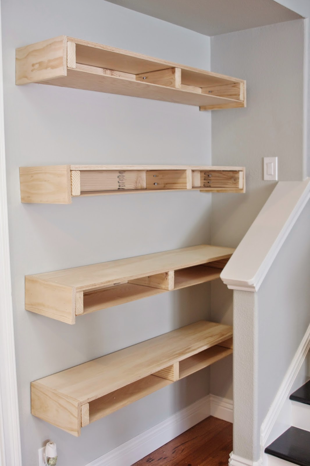 simply organized: Simple DIY: Floating Shelves Tutorial ...