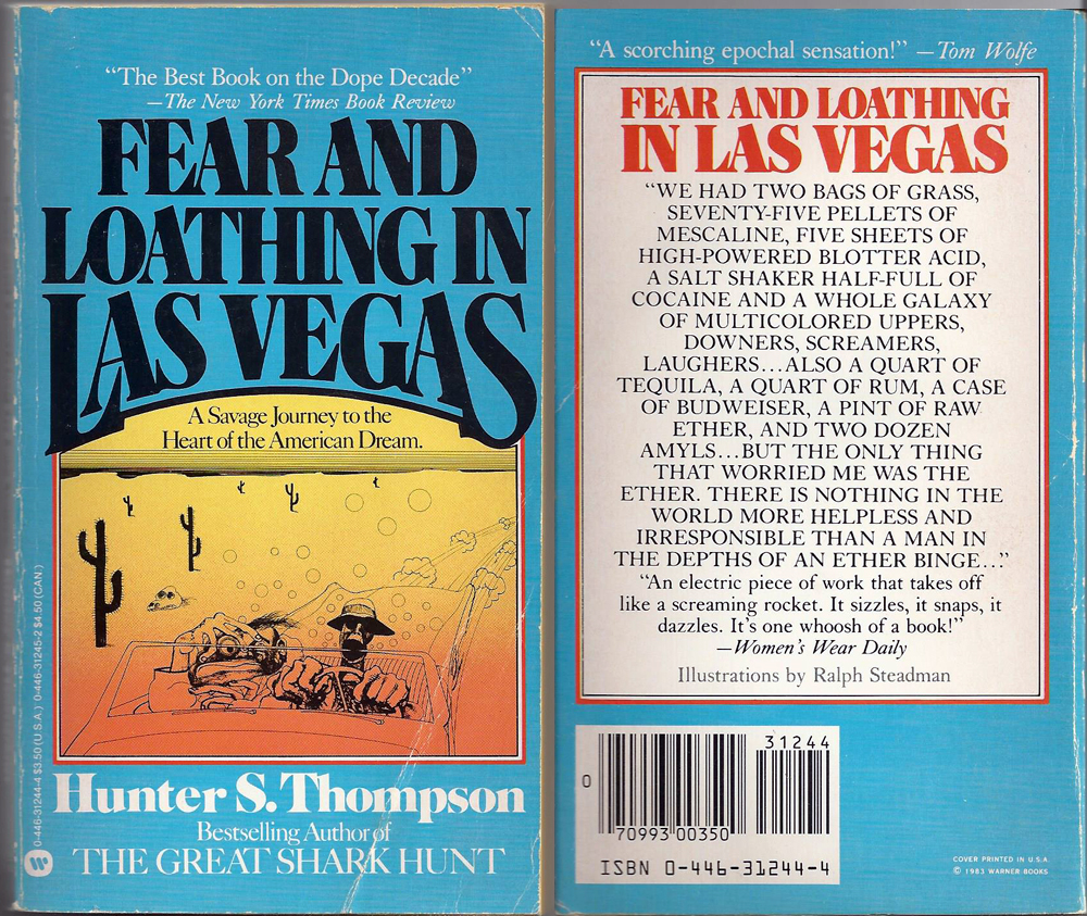 a comparison of the movie and book fear and loathing in las vegas by hunter s thompson It really doesn't stand comparison to fear and loathing though, and i think the fault may lie with thompson's book not with depp or robinson 4 the guy who rubbished your original review doesn't seem to've shown up here to congratulate you on this new review.
