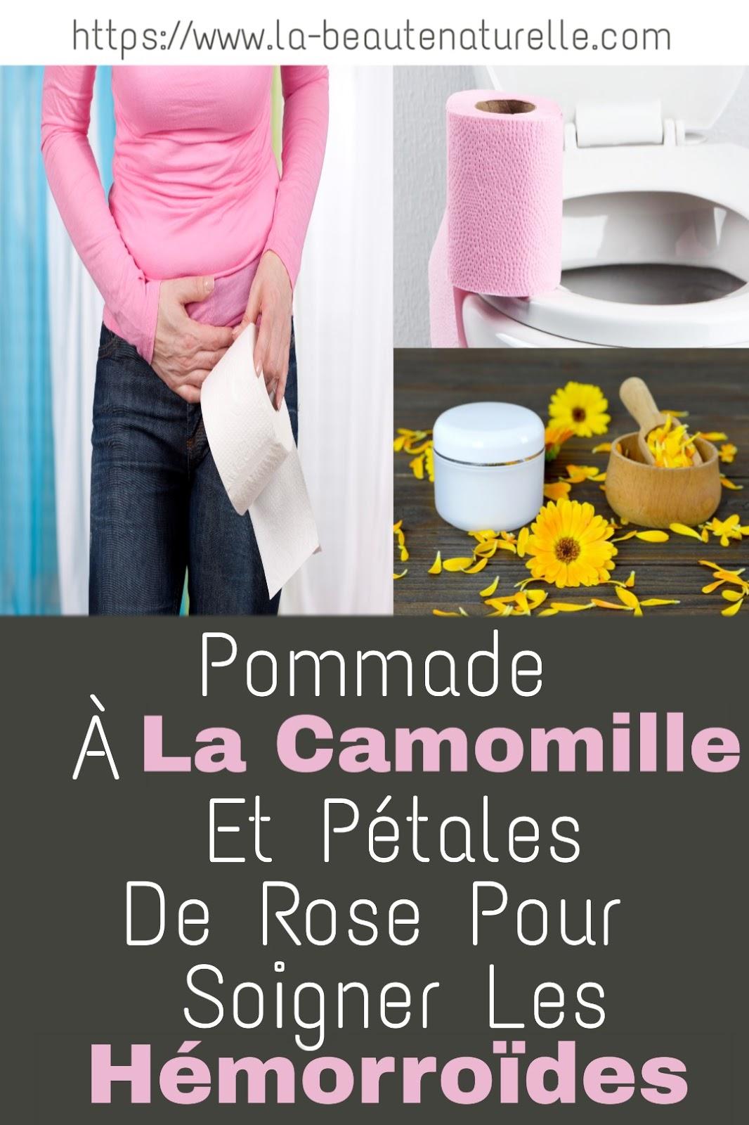Pommade À La Camomille Et Pétales De Rose Pour Soigner Les Hémorroïdes