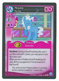 My Little Pony Pinprick, Pop Star Premiere CCG Card