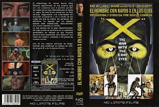 El hombre con rayos x en los ojos / Carátula