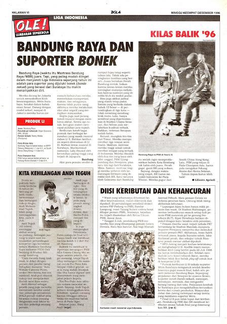 LIGA INDONESIA BANDUNG RAYA DAN SUPORTER BONEK