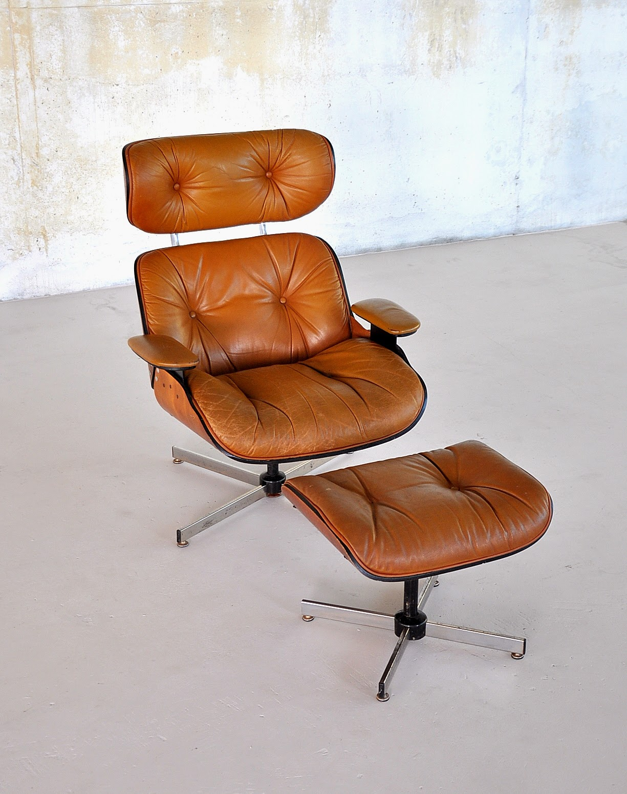 Charles Eames Herman Miller Chair Select Modern: Eames Leather Lounge Chair & Ottoman