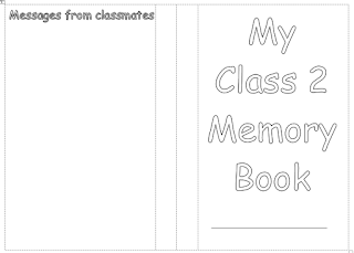 memory booklet for primary class