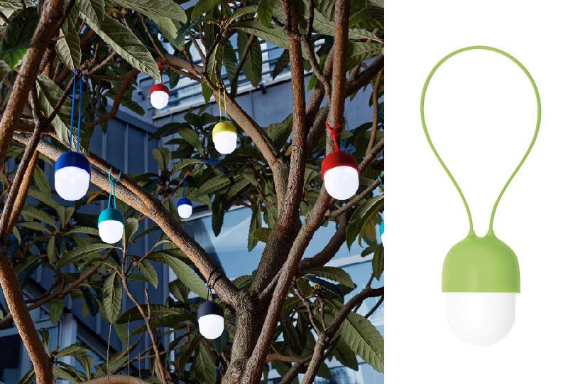 lampada di design ricaricabile Clover