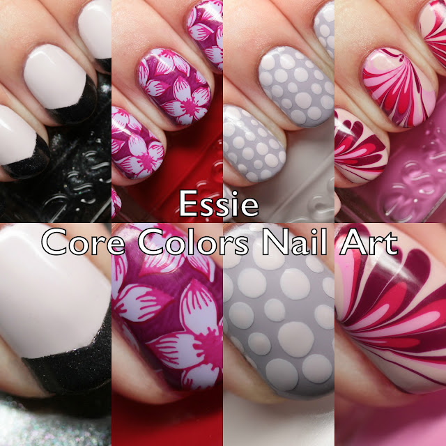 Essie Core Colors Nail Art