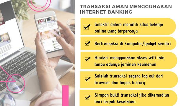 infografis cara aman transaksi internet banking