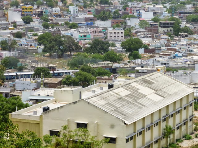 Views of Hyderabad India from Falaknuma Palace