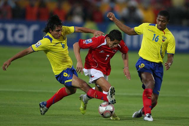 Ecuador y Chile en Clasificatorias a Sudáfrica 2010, 12 de octubre de 2008