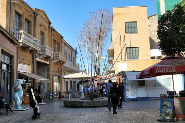 Paso fronterizo en la Calle Ledra de Nicosia
