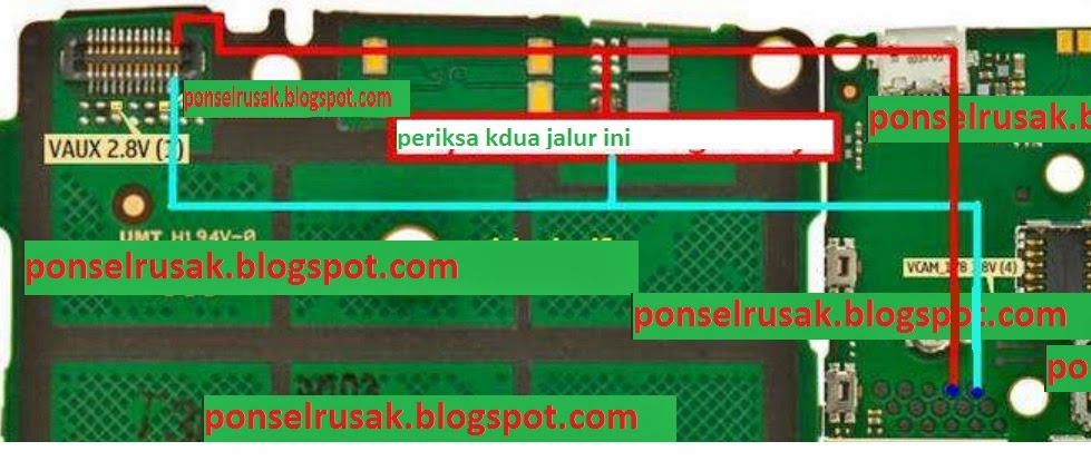 Gambara cara jumper jalur lampu lcd nokia x2-02
