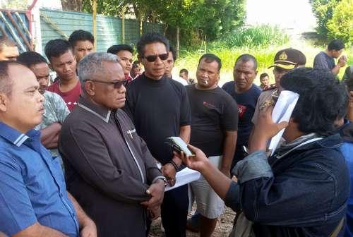 Massa PT Sintai Shipyard Datangi PT Cahaya Maritim Indonesia Terkait Masalah Lahan