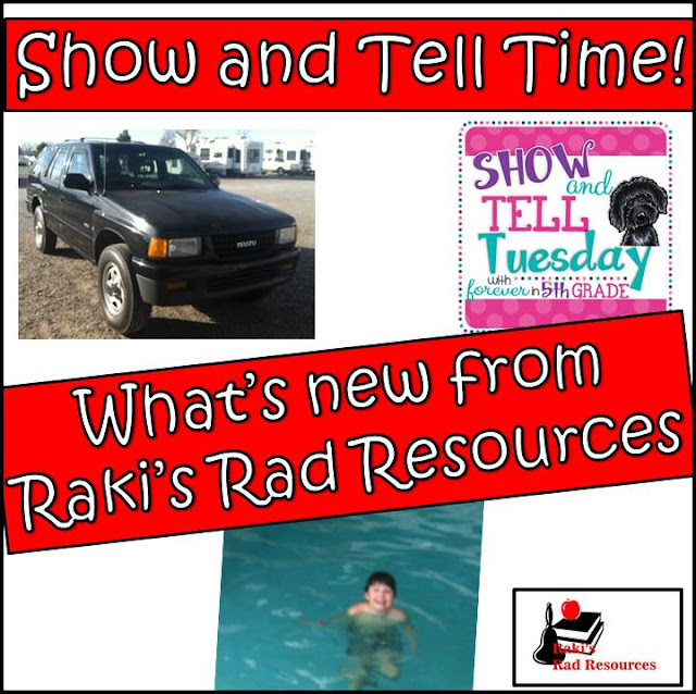 "Teacher bloggers have lives too! Come and find out what's new in everyone's life. My February show and tell post includes a ""new to me"" car. Raki's Rad Resources"