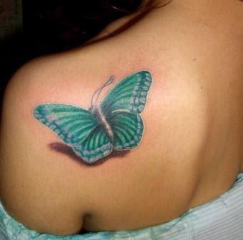 Foto Tattoo Design Butterfly Kupu Di Tubuh Wanita 2
