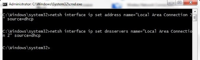 Konfigurasi IP Address via CMD di Windows