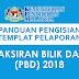 Panduan Pengisian Templat Pelaporan Pentaksiran Bilik Darjah (PBD) 2018