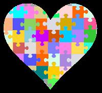 Coração puzzle - Criação Blog PNG-Free