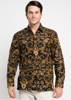 Baju Batik Lengan Panjang Buat Cowok