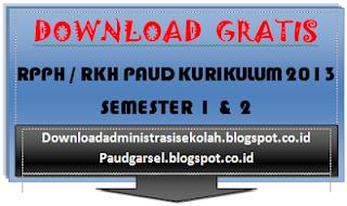 RPPH PAUD Semester 1 Kurikulum 2013 Minggu Ke 9
