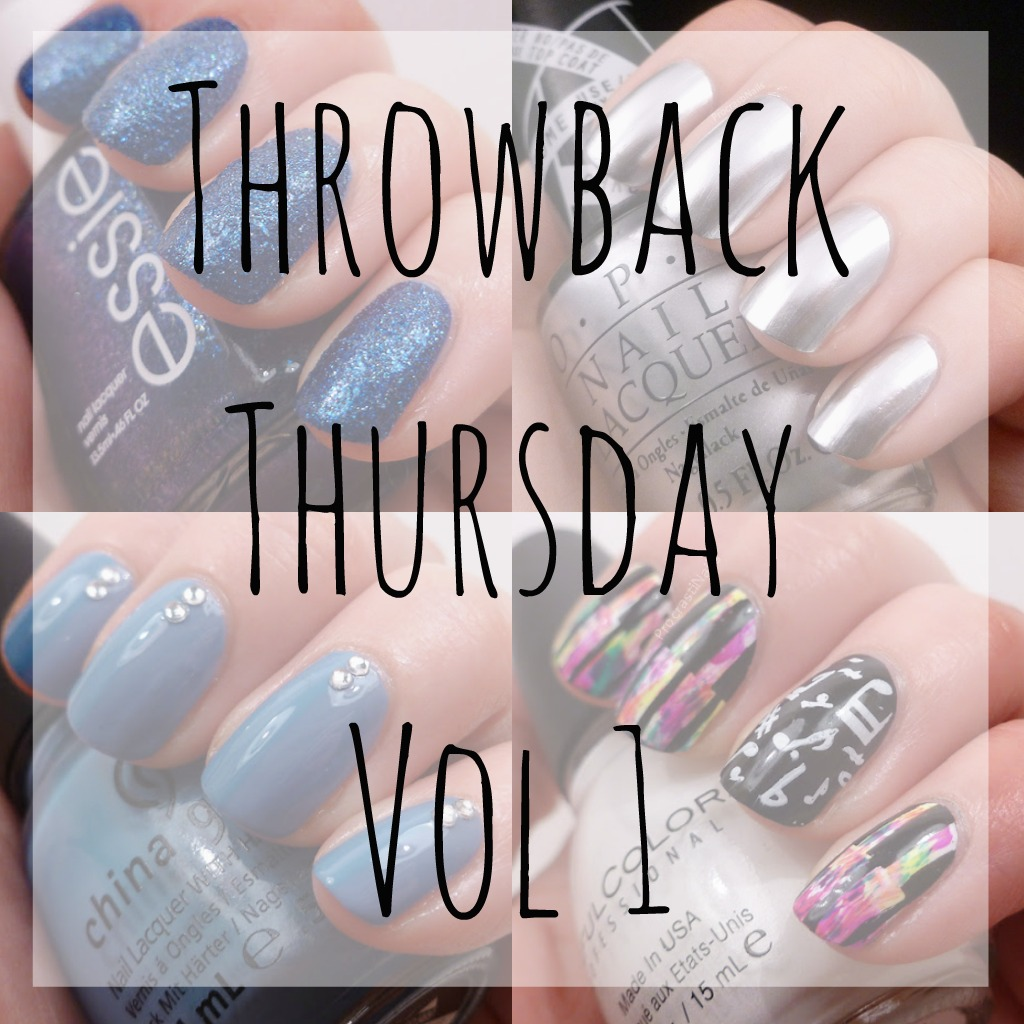 Throwback Thursday nail polish swatches and nail art